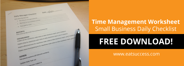 Time Management Worksheet | Small Business Daily Checklist