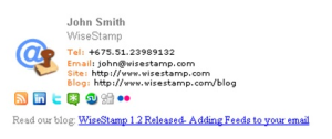 email signature template example 1