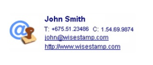 email signature template example 3