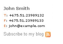 email signature template example 4