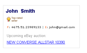 email signature template example 7
