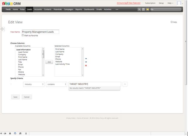Lead Dashboard - New View 1