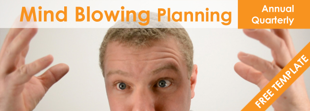MIND BLOWING Annual or quarterly planning + FREE Template!