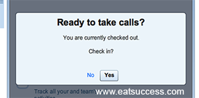 Setting availability ensures only available staff are getting calls.
